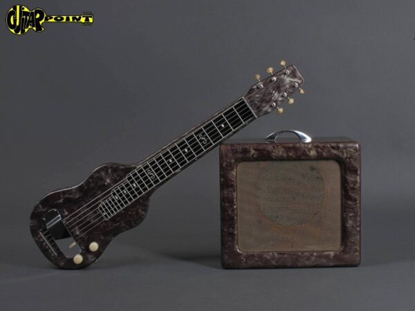 1950s Magnatone - Black perloid / w. matching Tube Amp