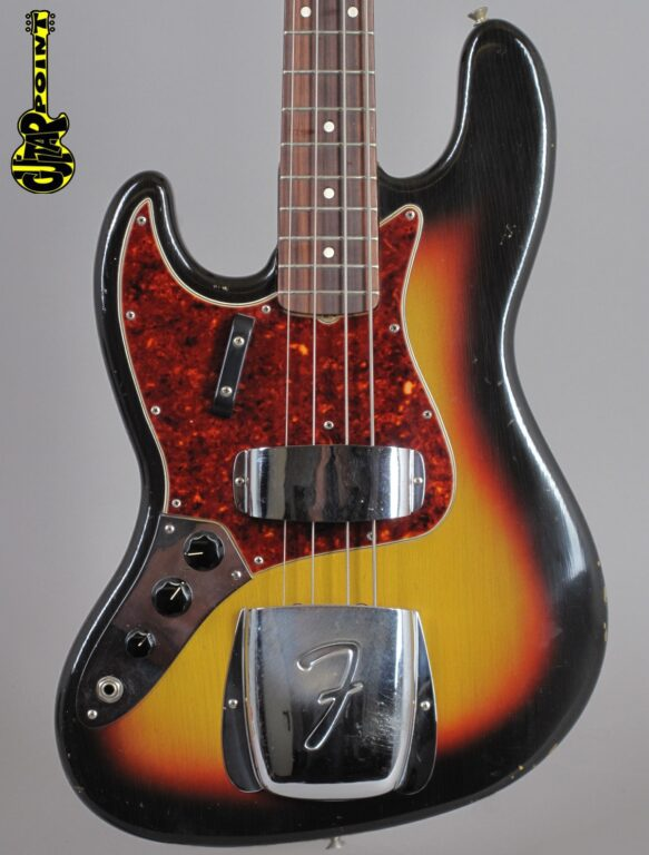 "1964 Fender Jazz Bass - 3-tone Sunburst ""Lefty"""