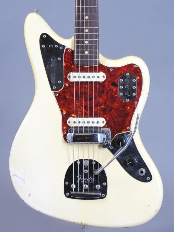 1966 Fender Jaguar - Olympic White  - 1963 Neck