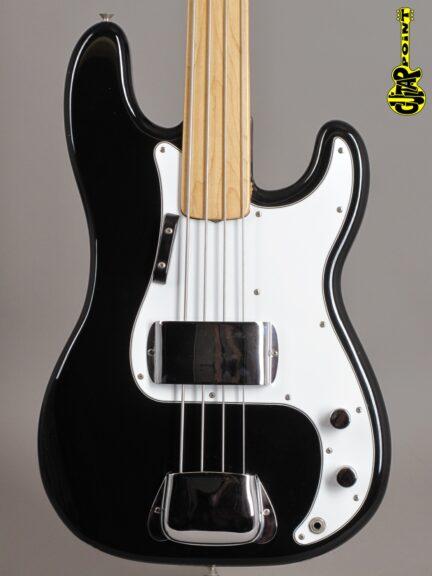 "1974 Fender Precision Bass - Black  ""Fretless"""