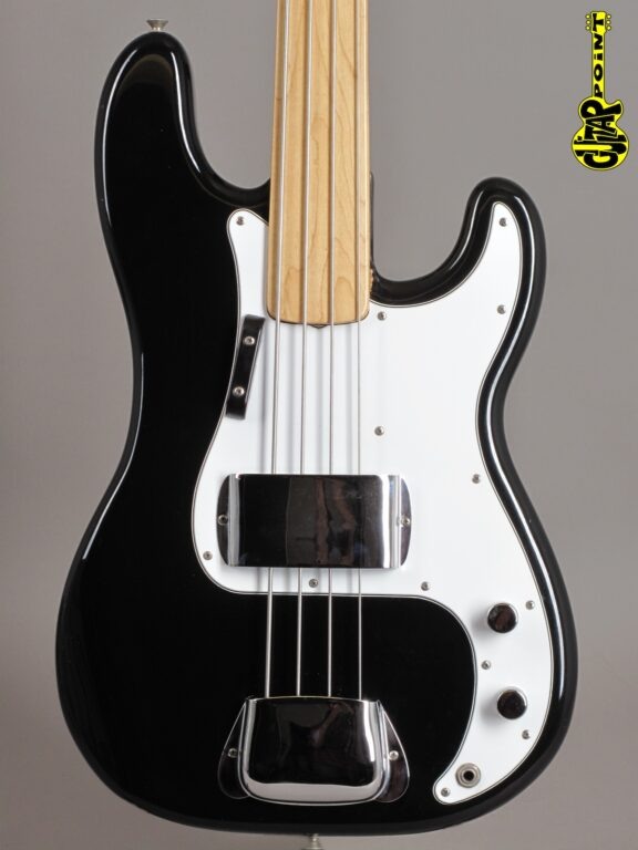 "1974 Fender Precision Bass - Black  ""Fretless"""