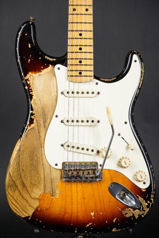 2009 Fender John Cruz Masterbuilt 1956 Stratocaster Heavy Relic - Sunburst