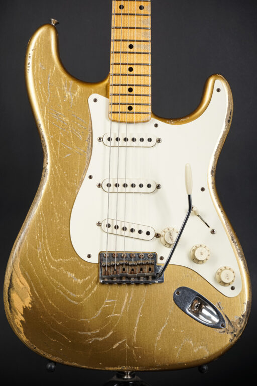 2012 Dennis Galuszka Masterbuilt 1957 Heavy Relic Stratocaster - HLE Gold ...2,89Kg