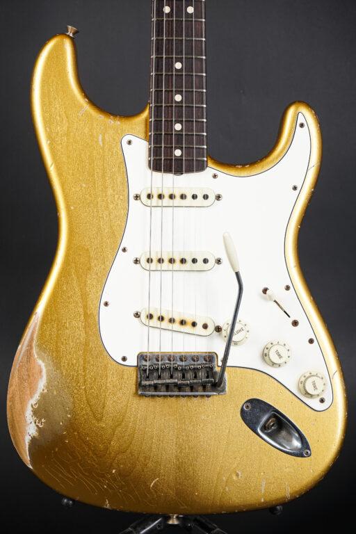 2015 Fender John Cruz Masterbuilt 1963 Stratocaster Heavy Relic - Aztec Gold