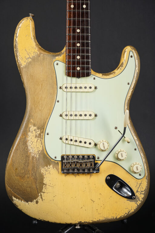 2018 Fender Dale Wilson Masterbuilt 1960 Stratocaster Heavy Relic - Vintage Blond ...2,98Kg