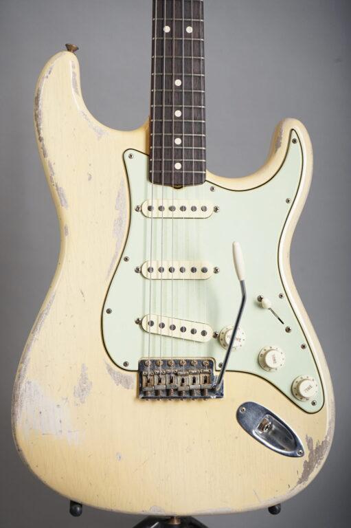 2020 Fender Custom Shop Todd Krause Masterbuilt 1963 Stratocaster Heavy Relic  - Nocaster Blonde