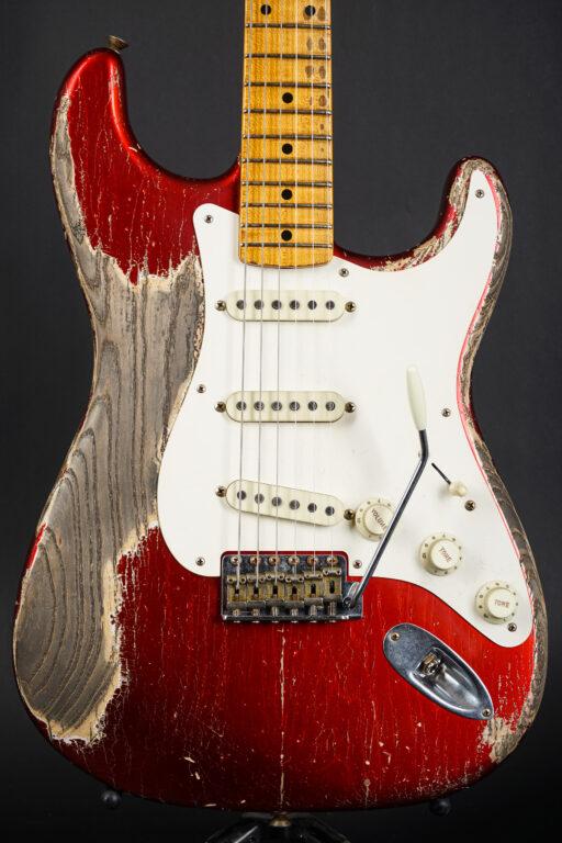 2020 Fender Greg Fessler Masterbuilt 1957 Stratocaster - Aged Candy Apple Red Heavy Relic