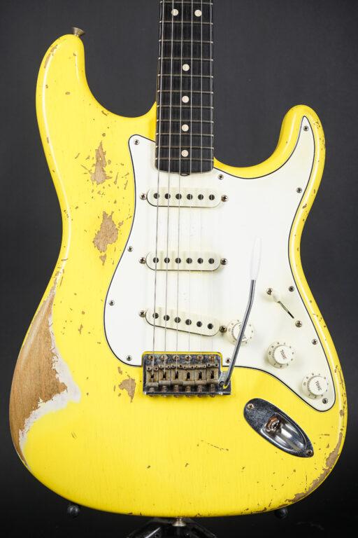 2020 Fender Ron Thorn Masterbuilt 1963 Stratocaster Heavy Relic - Graffiti Yellow
