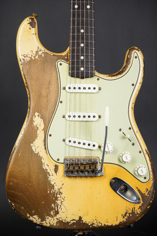 2021 Fender Carlos Lopez 1961 Stratocaster Ultra Relic - Aged Olympic White