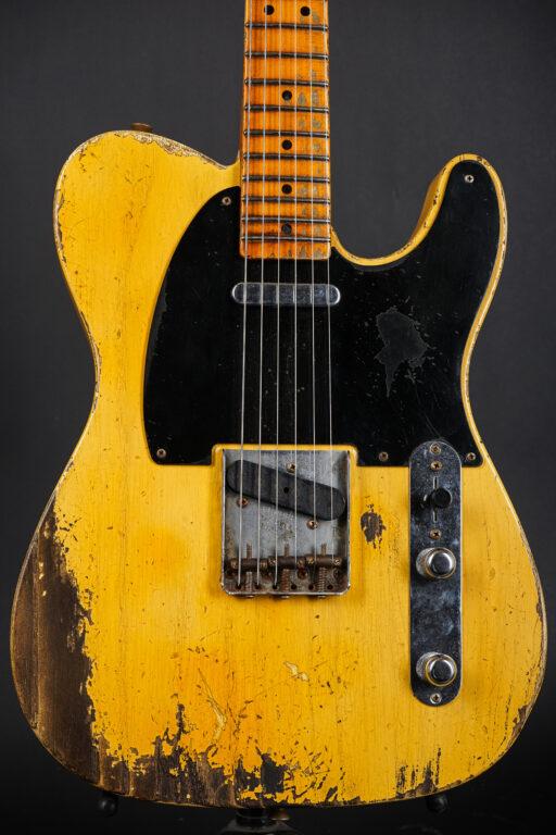 2021 Fender Carlos Lopez Masterbuilt 1952 Telecaster Heavy Relic - Blonde