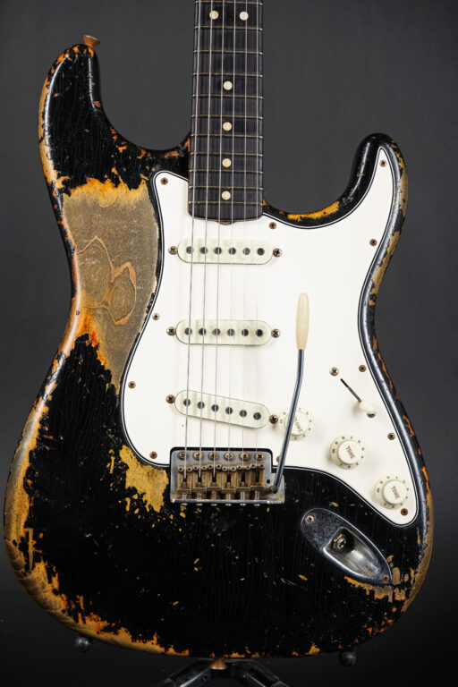 2021 Fender Dale Wilson Masterbuilt 1963 Stratocaster Heavy Relic - Black over SB