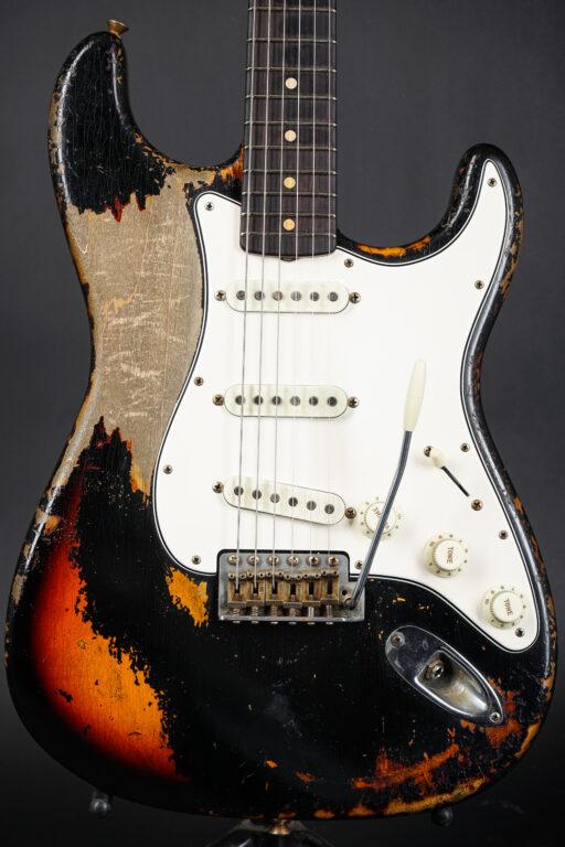 2021 Fender Dale Wilson Masterbuilt 1963 Stratocaster Heavy Relic – Black over Sunburst