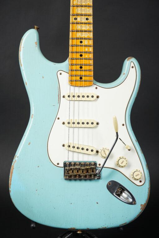 2021 Fender Todd Krause Masterbuilt 1959 Stratocaster Relic - Daphne Blue