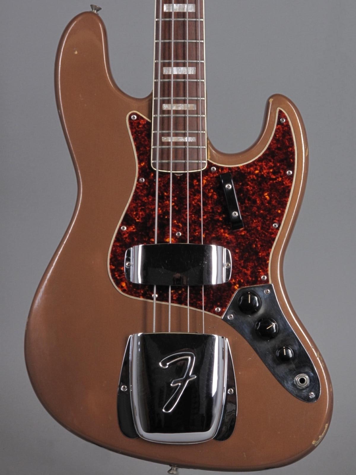 1967 Fender Jazz Bass - Fire Mist Gold (refin)