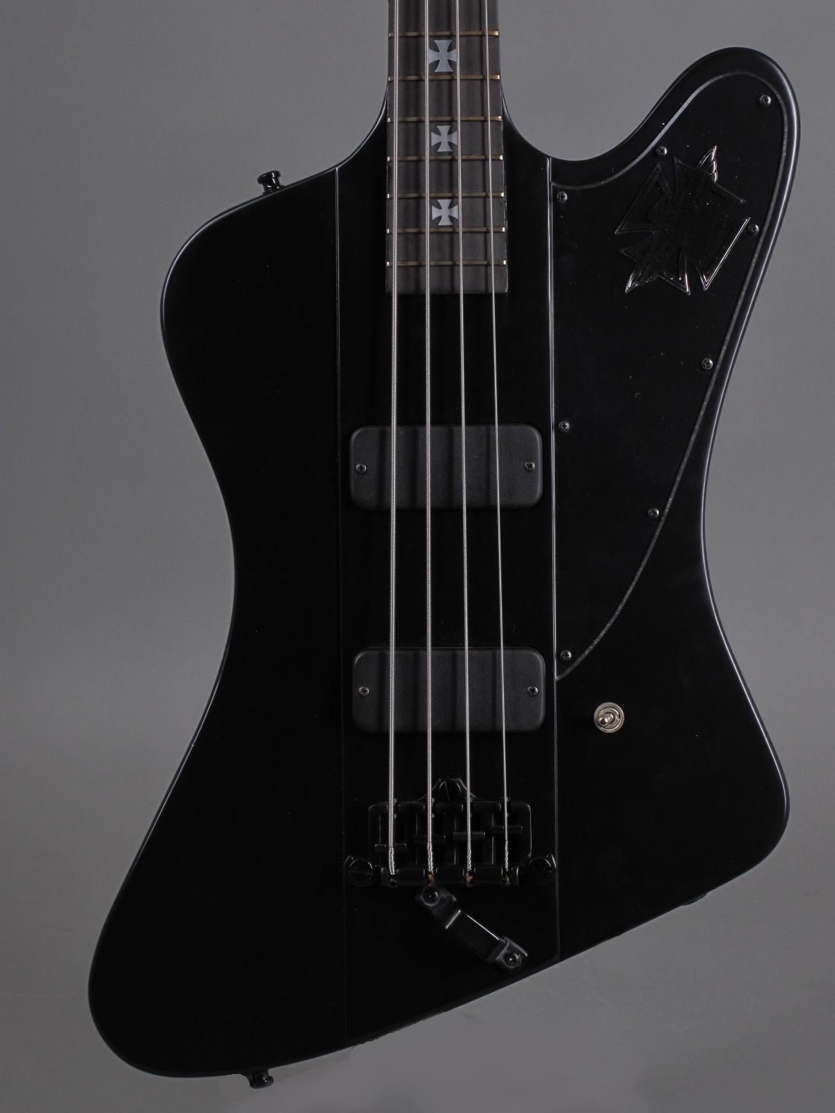 2001 Gibson Nikki Sixx Signature Blackbird Bass - Flat Black