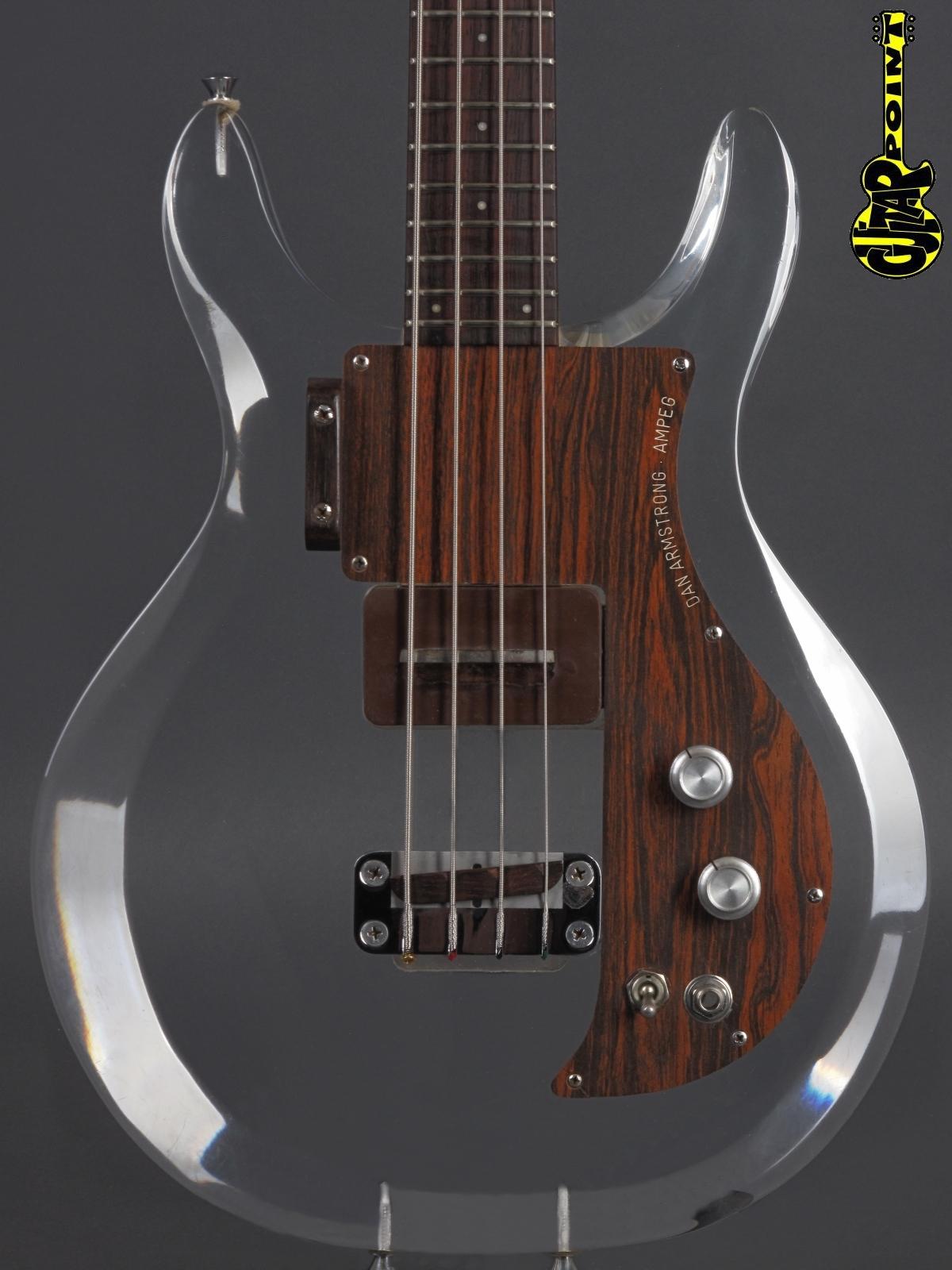 1970 Dan Amstrong (Ampeg) Lucite - Plexiglass Bass