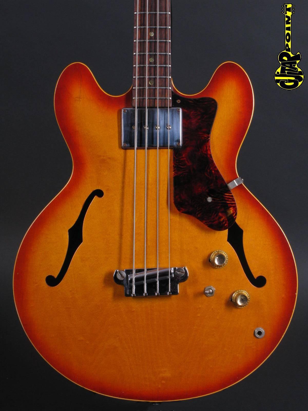 1966 Epiphone Rivoli Bass - Sunburst
