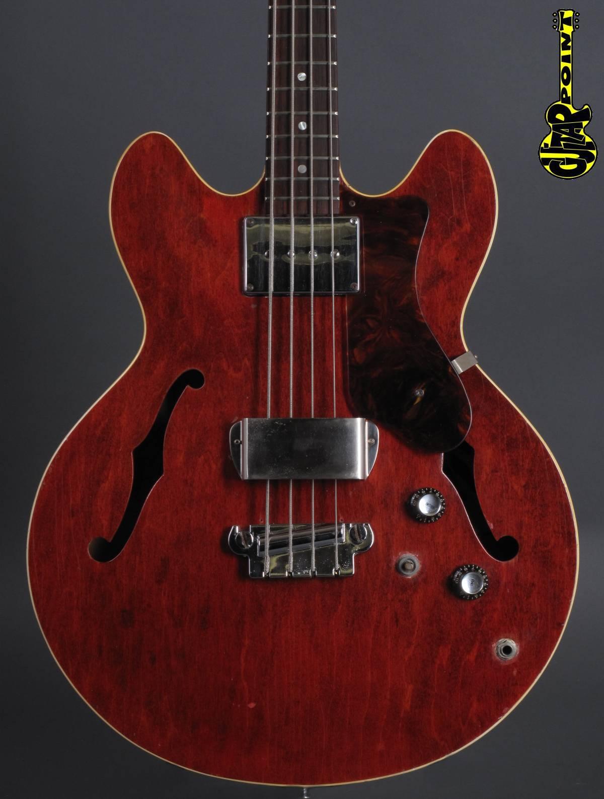 1967 Epiphone Rivoli Bass - Cherry