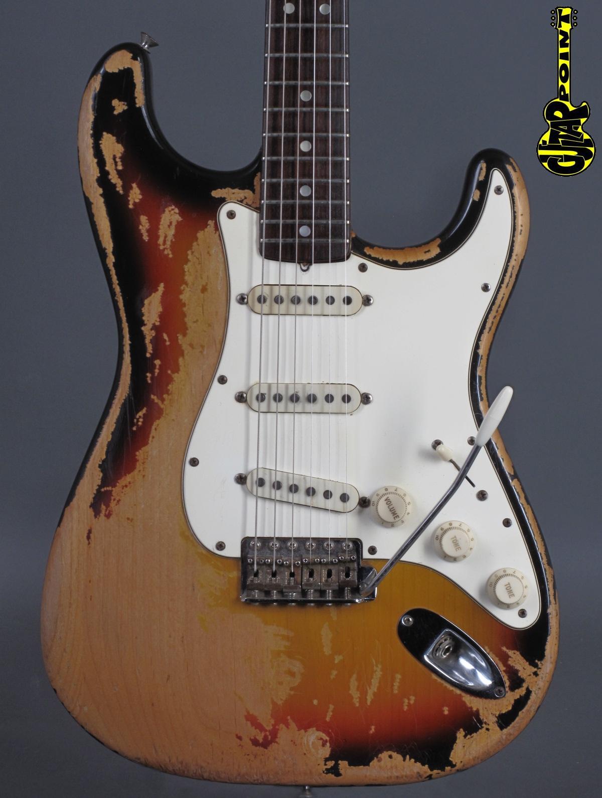 1968 Fender Stratocaster 3t Sunburst - ...heavy playwear !