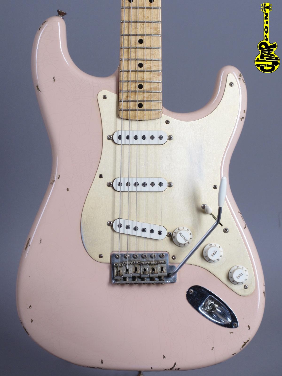 2001 Fender Custom 1954 Stratocaster Relic - Shell Pink