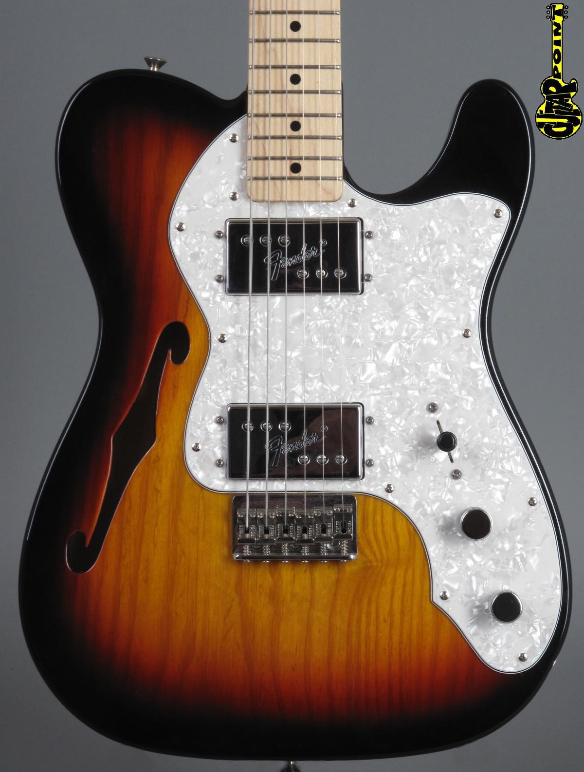 Fender Classic Series '72 Telecaster Thinline 3-tone Sunburst