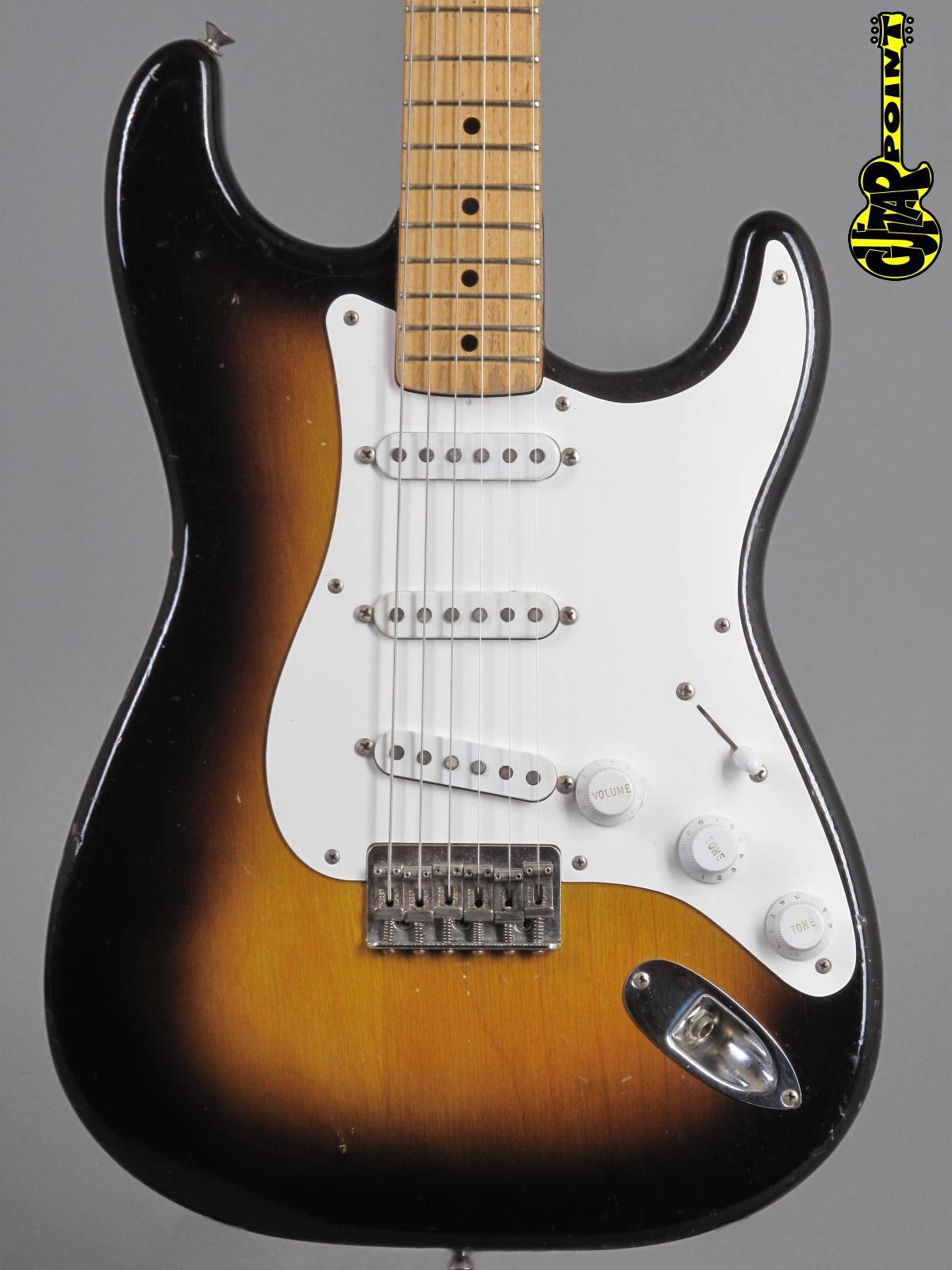 1956 Fender Stratocaster - 2-tone Sunburst / Hardtail