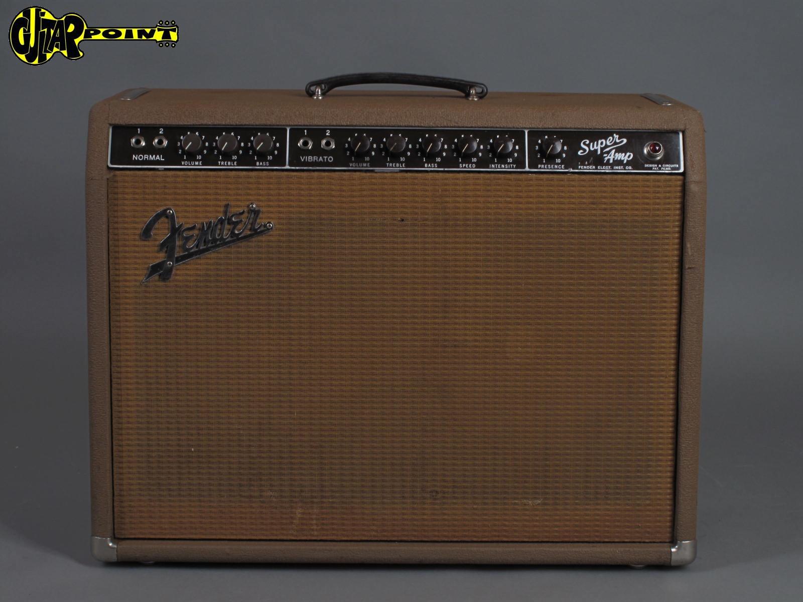 """1961 Fender Super Amp - """"Brownface"""" 2x10"""""""