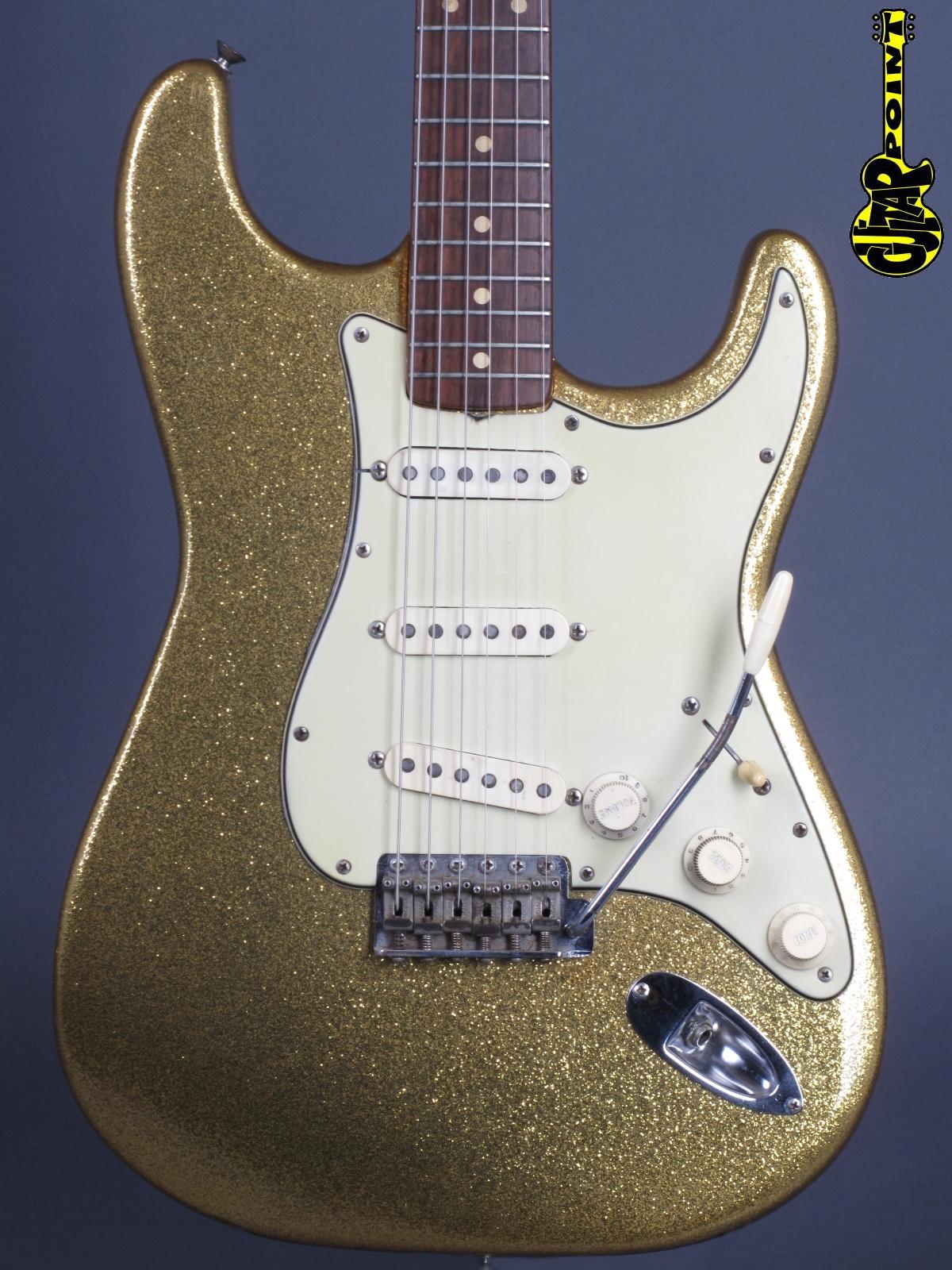 1962 Fender Stratocaster - Gold Sparkle / ex. Bob Dylan !