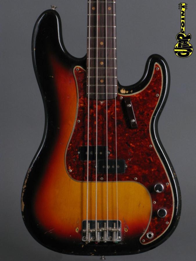 1963 Fender Precision Bass - 3-tone Sunburst