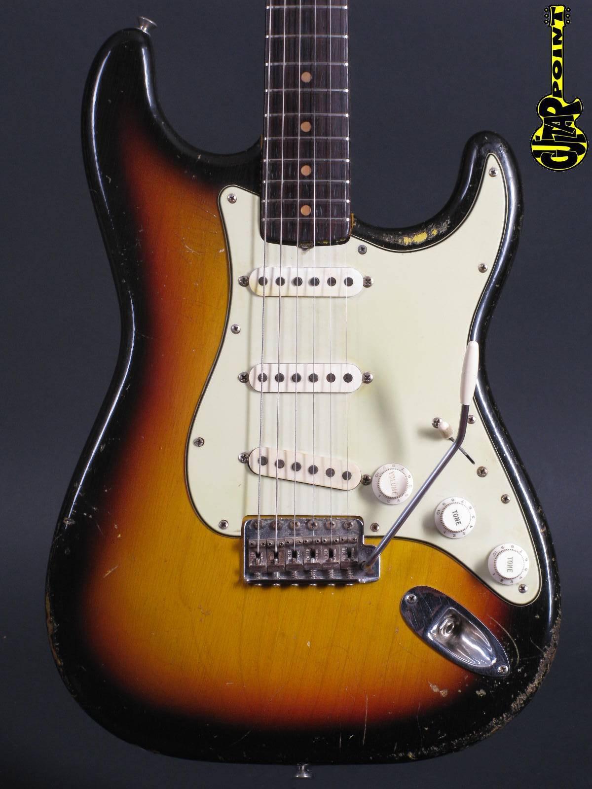 1963 Fender Stratocaster 3-tone Sunburst