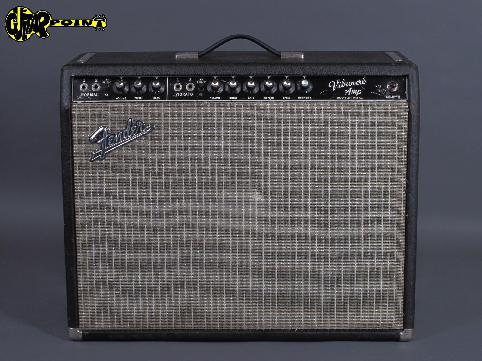 """1963 Fender Vibroverb - 40 Watt 1x15"""" Blackface  AA 763"""