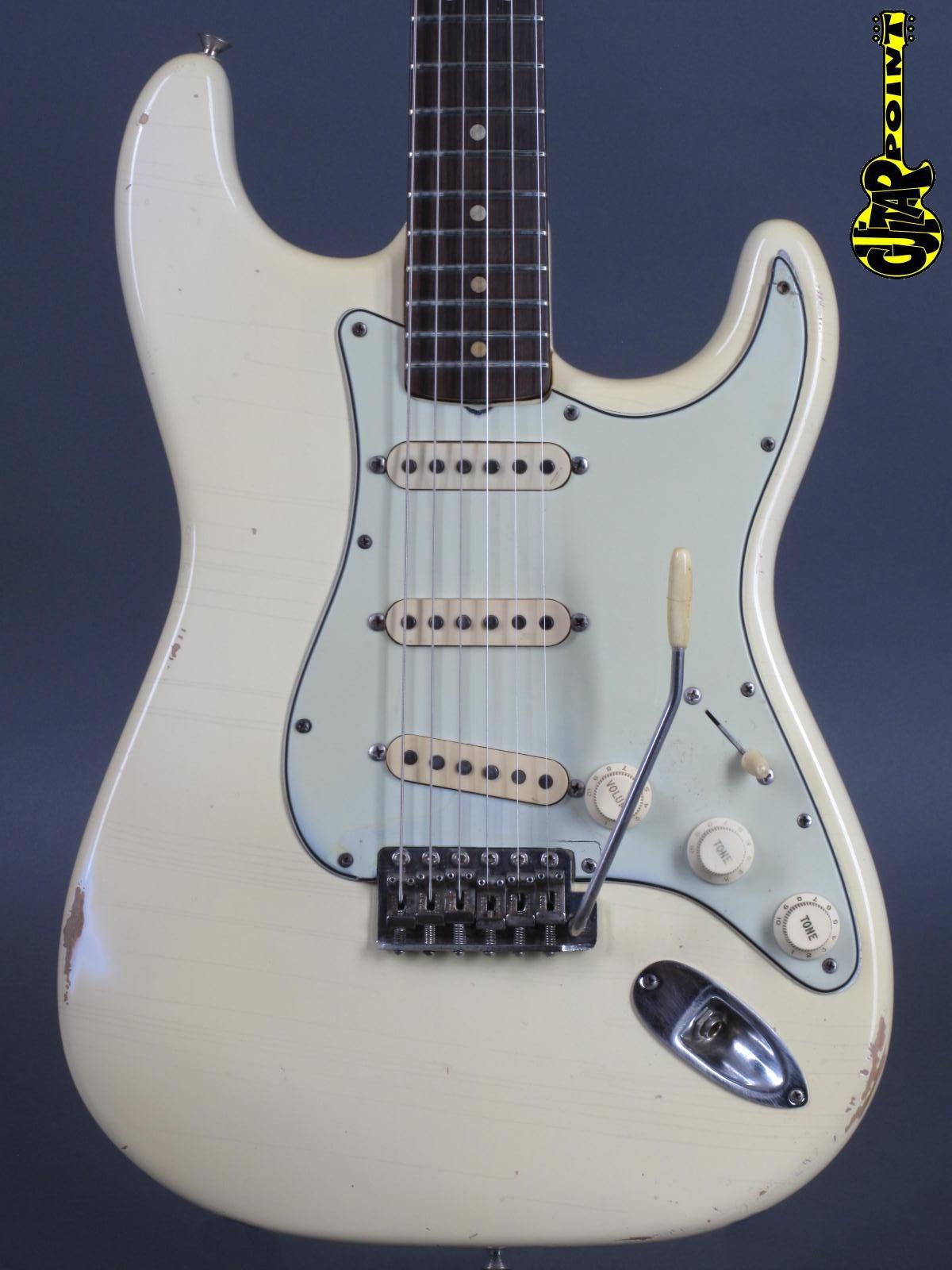 1964 Fender Stratocaster - Olympic White (refin!)