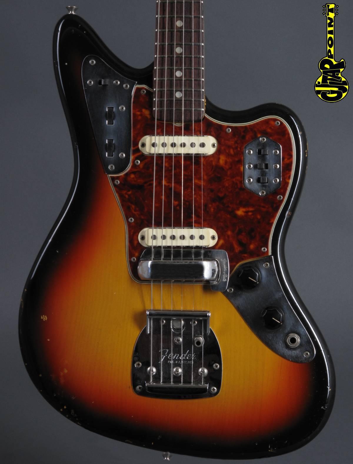 1965 Fender Jaguar – 3-tone Sunburst