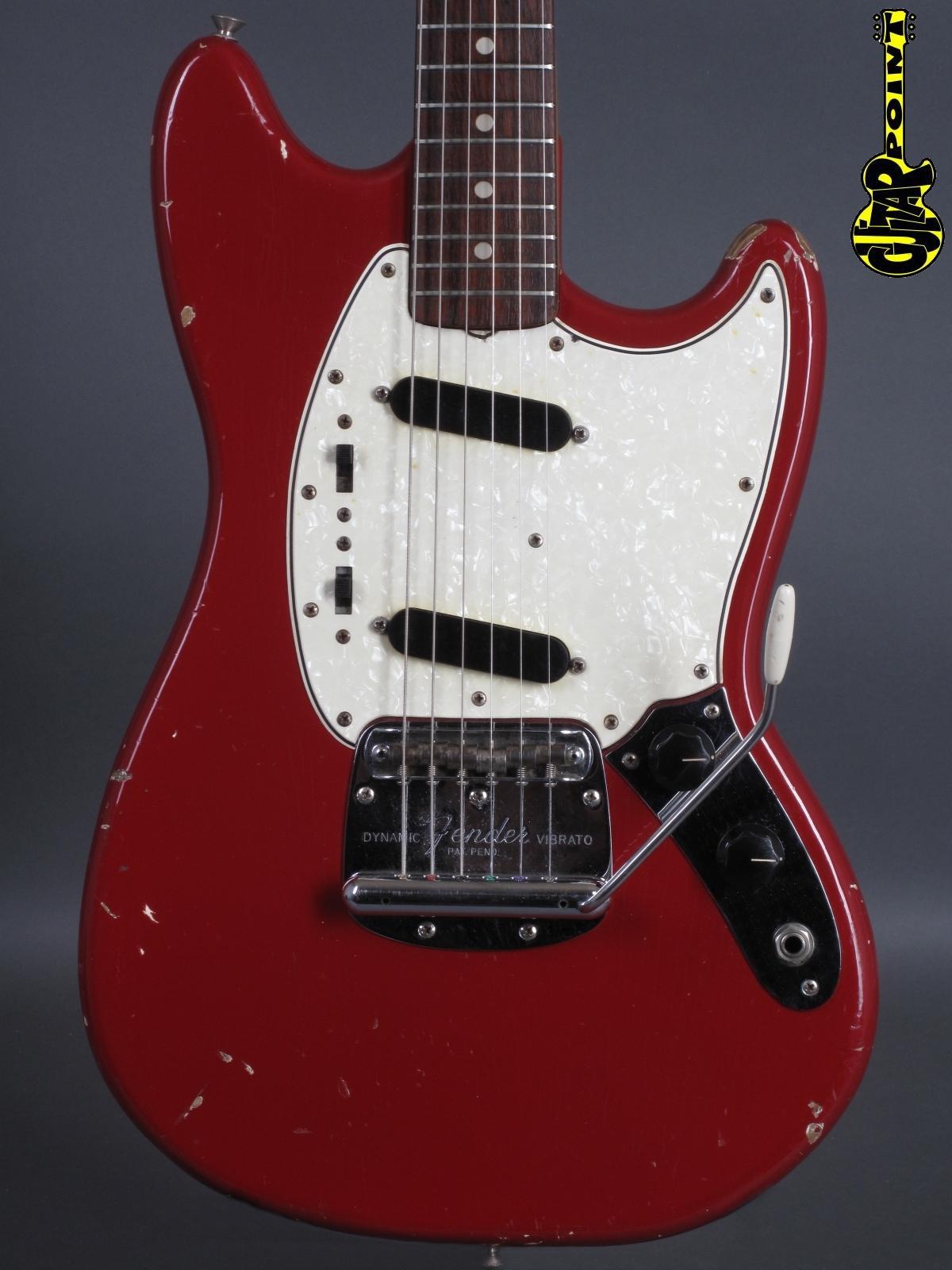 1965 Fender Mustang - Dakota Red incl. orig. Case.
