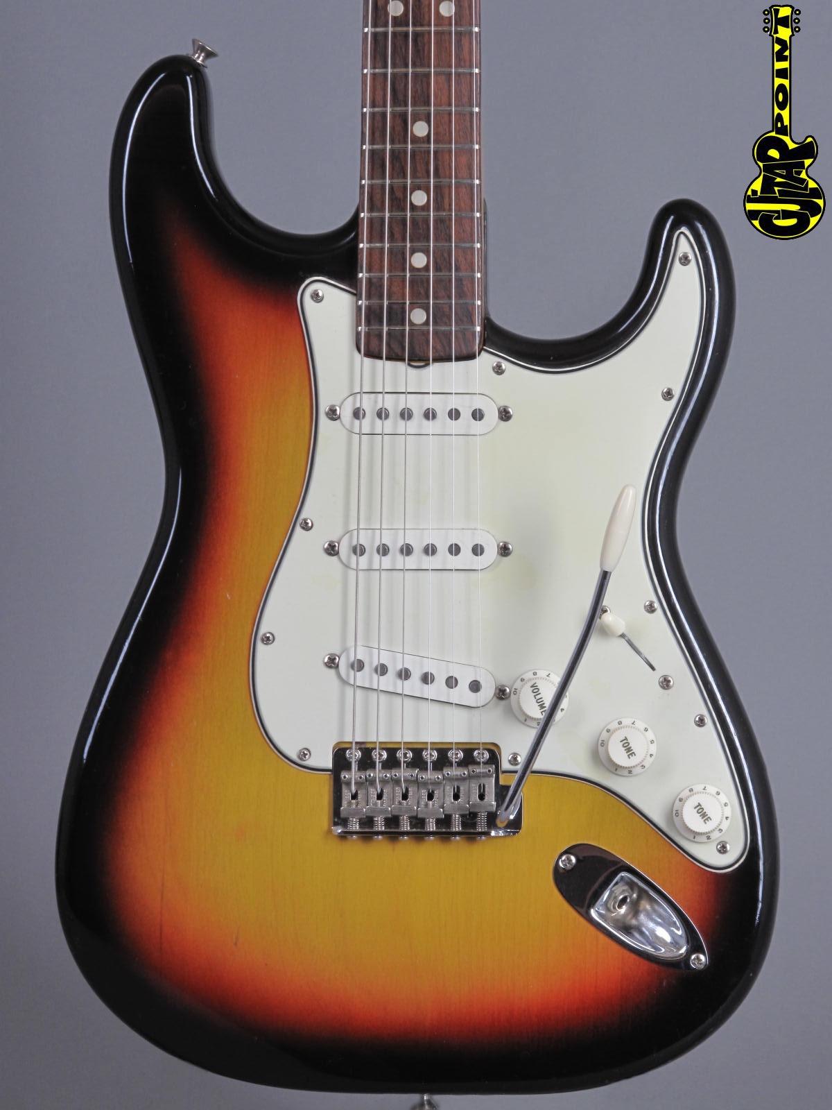1965 Fender Stratocaster - 3t-Sunburst  ...green guard + Mint !!!