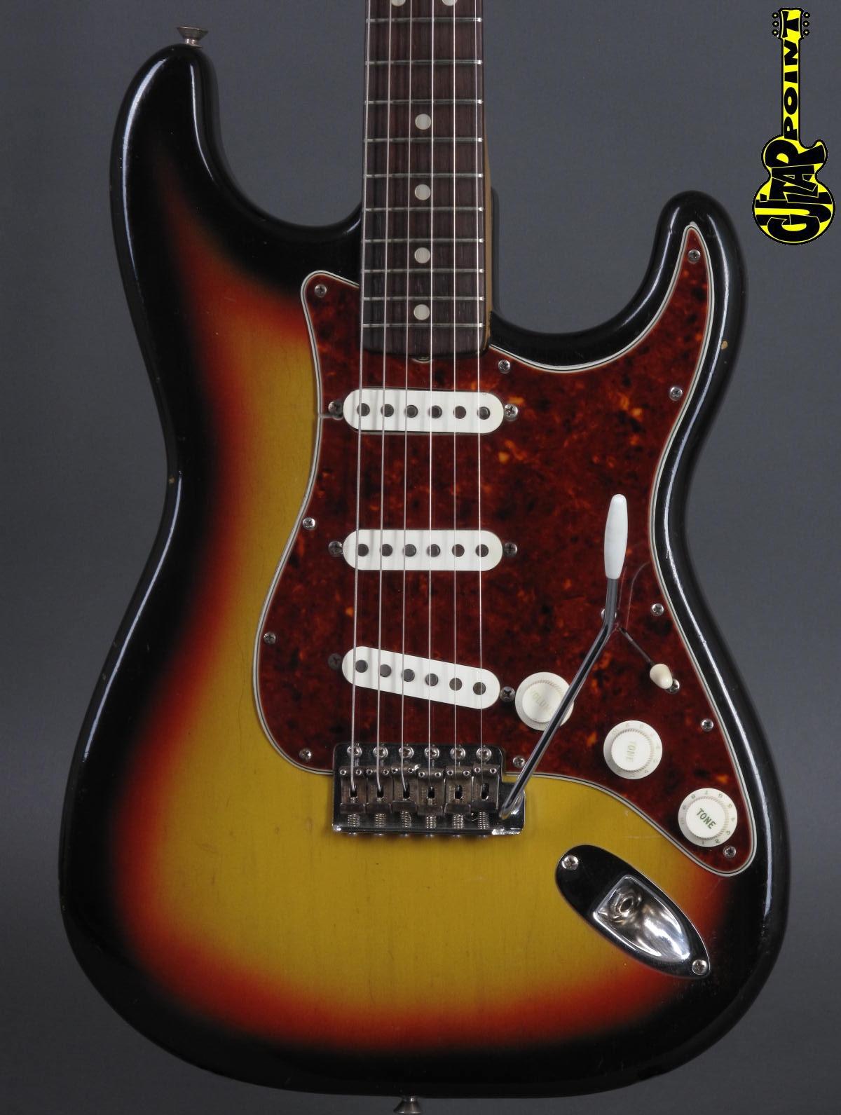 1965 Fender Stratocaster - 3t-Sunburst ...rare Tortoise guard + lightweight