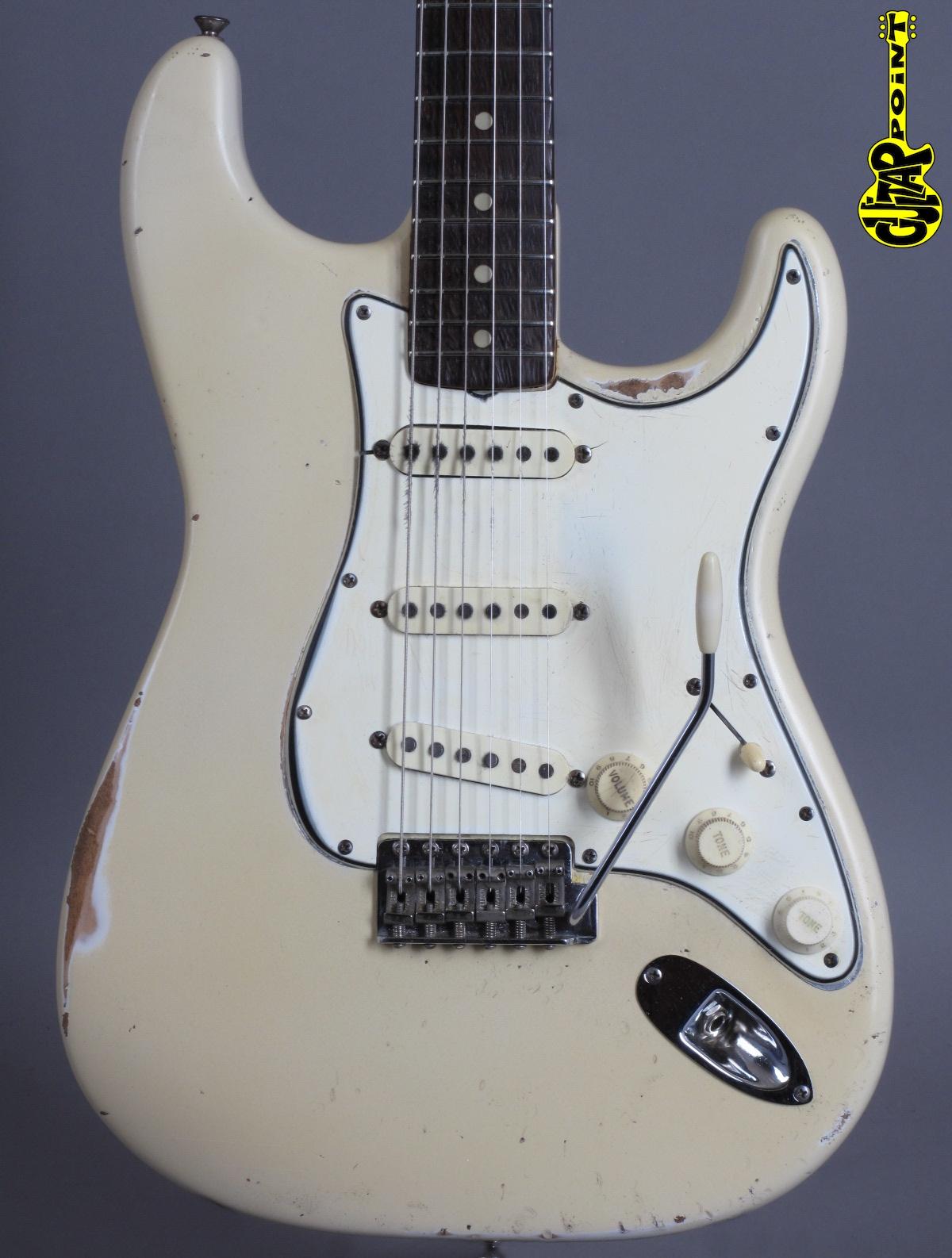 1965 Fender Stratocaster - Olympic White (Refin)