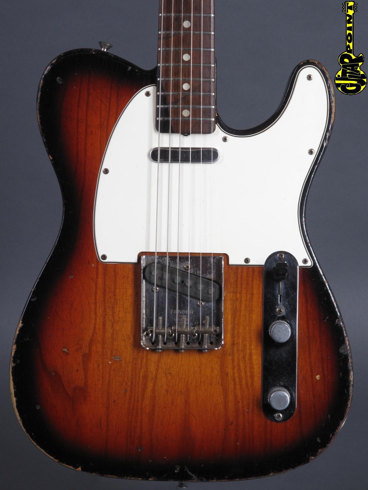 1965 Fender Telecaster - 3-tone Sunburst     ...lightweight!