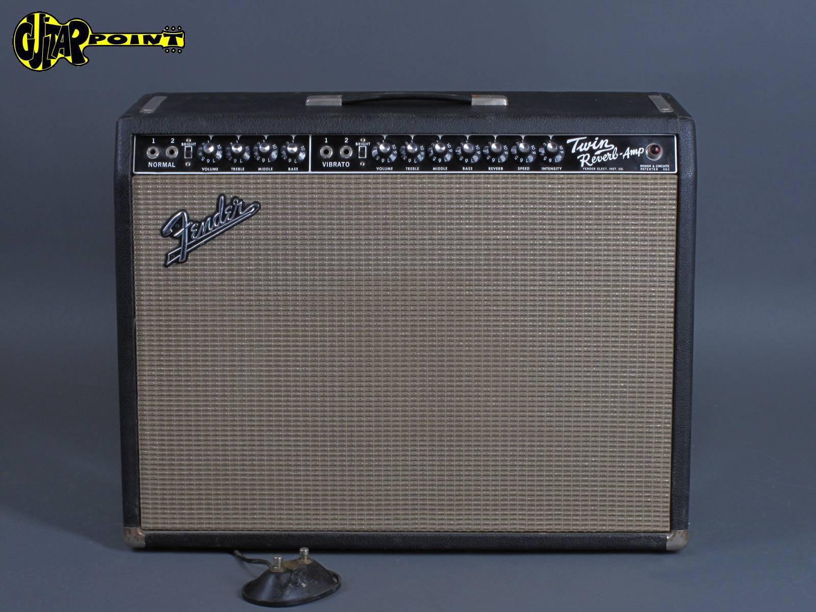 "1965 Fender Twin Reverb Amp ""Blackface - 2x12"""