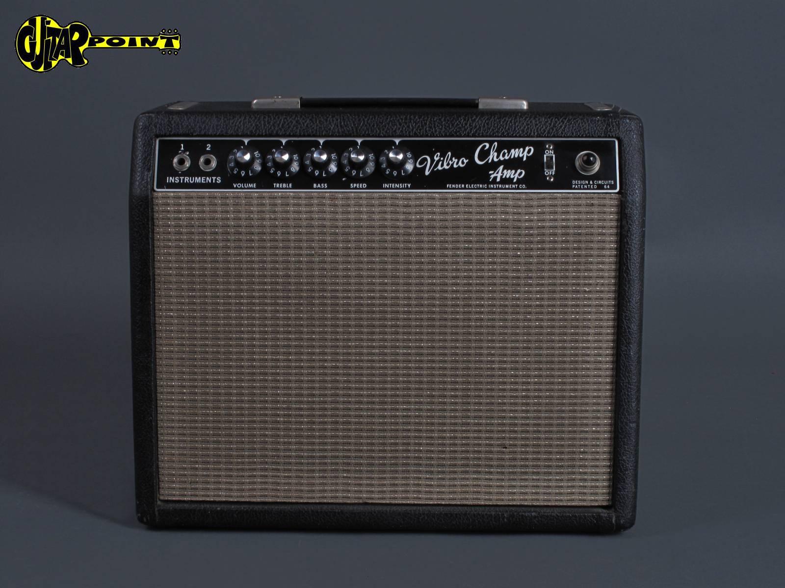 1965 Fender Vibro Champ Amp - Blackface