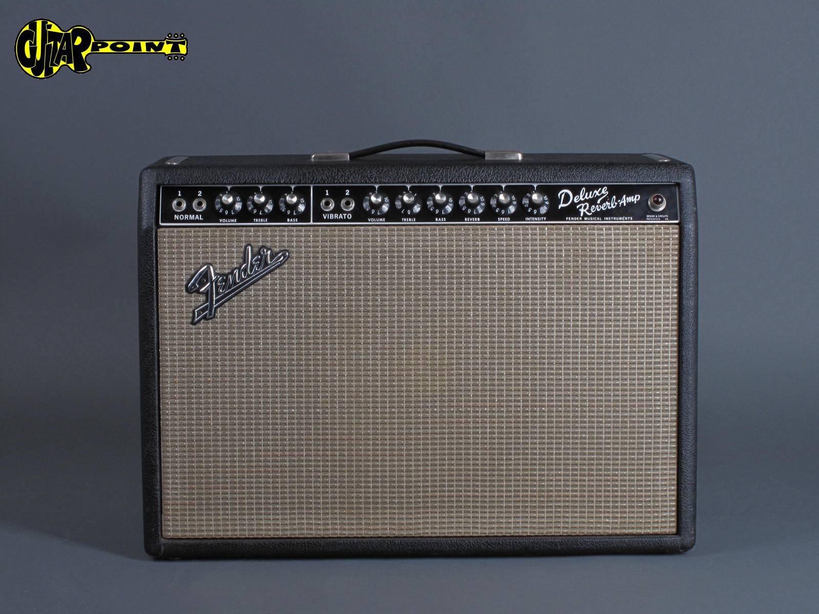 1966 Fender Deluxe Reverb Amp - Blackface - Clean !!!