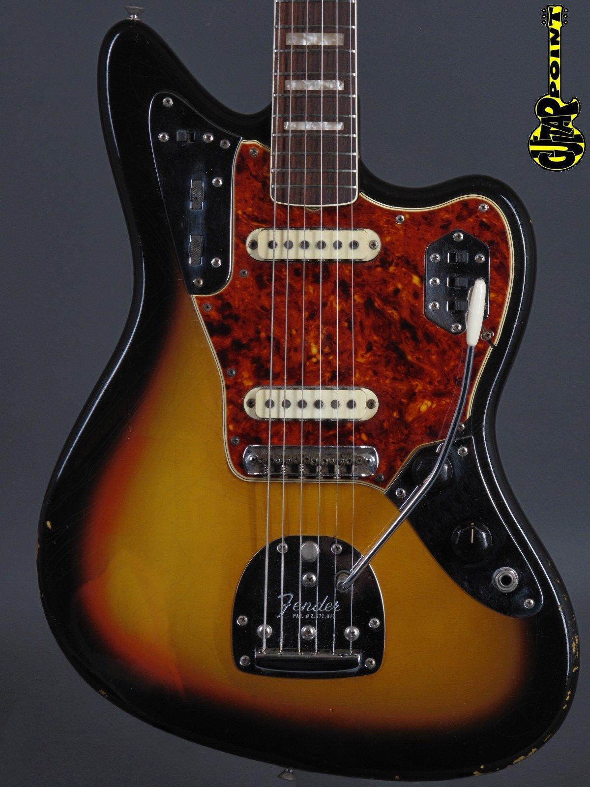 1966 Fender Jaguar – 3-tone Sunburst
