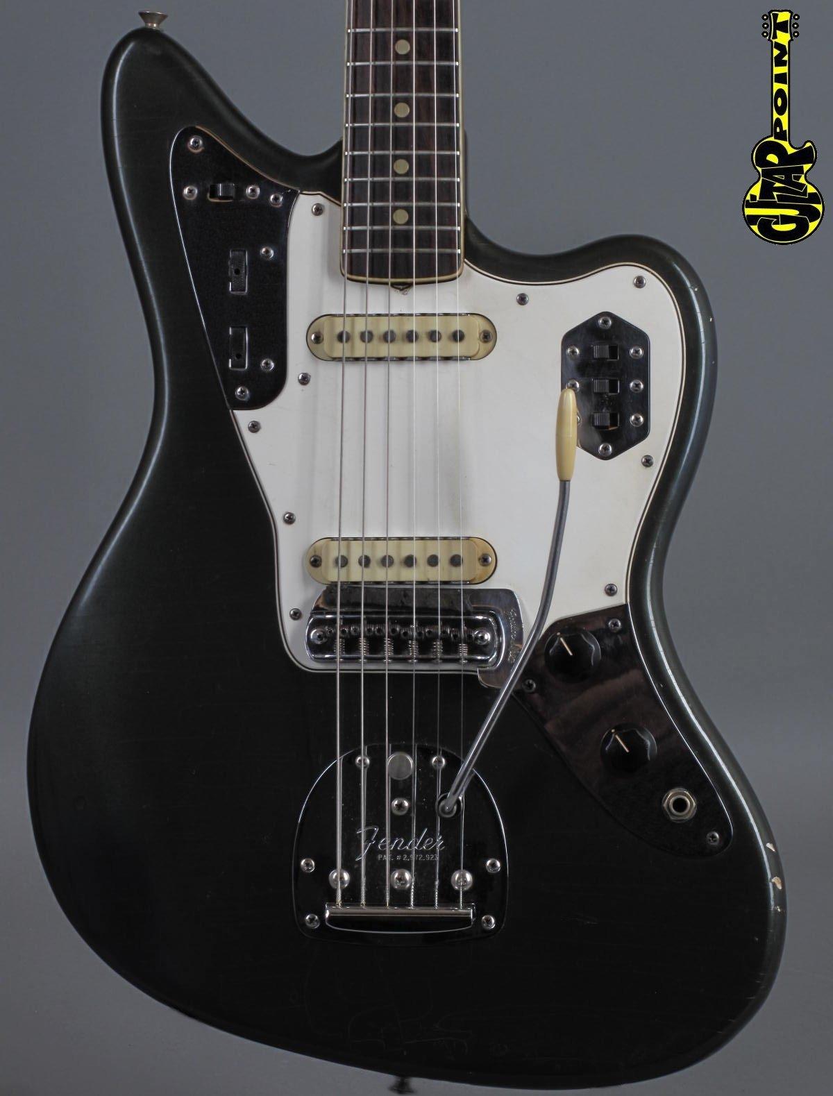 1966 Fender Jaguar – Charcoal Frost   ...super rare Color !