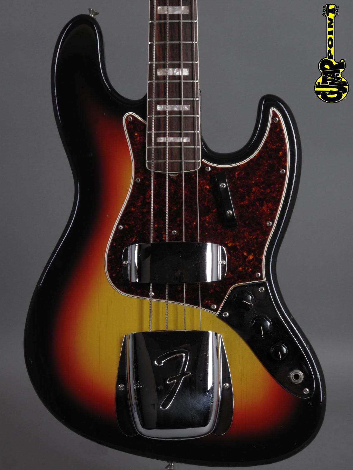 1966 Fender Jazz Bass - 3-tone Sunburst
