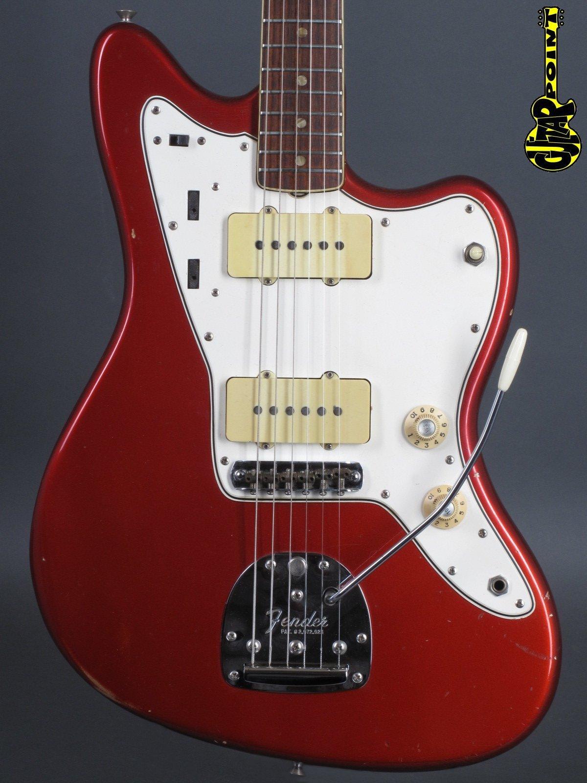 1966 Fender Jazzmaster - Candy Apple Red - white Case
