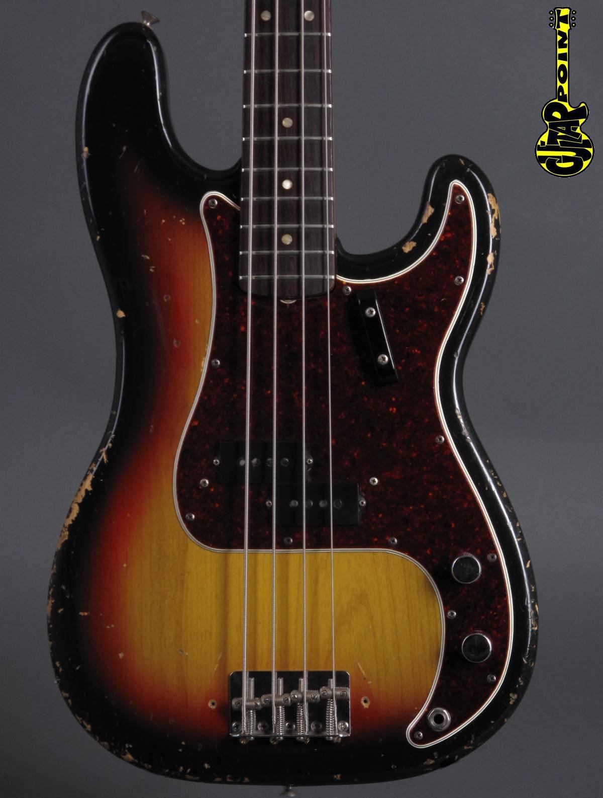 1966 Fender Precision Bass - 3-tone Sunburst