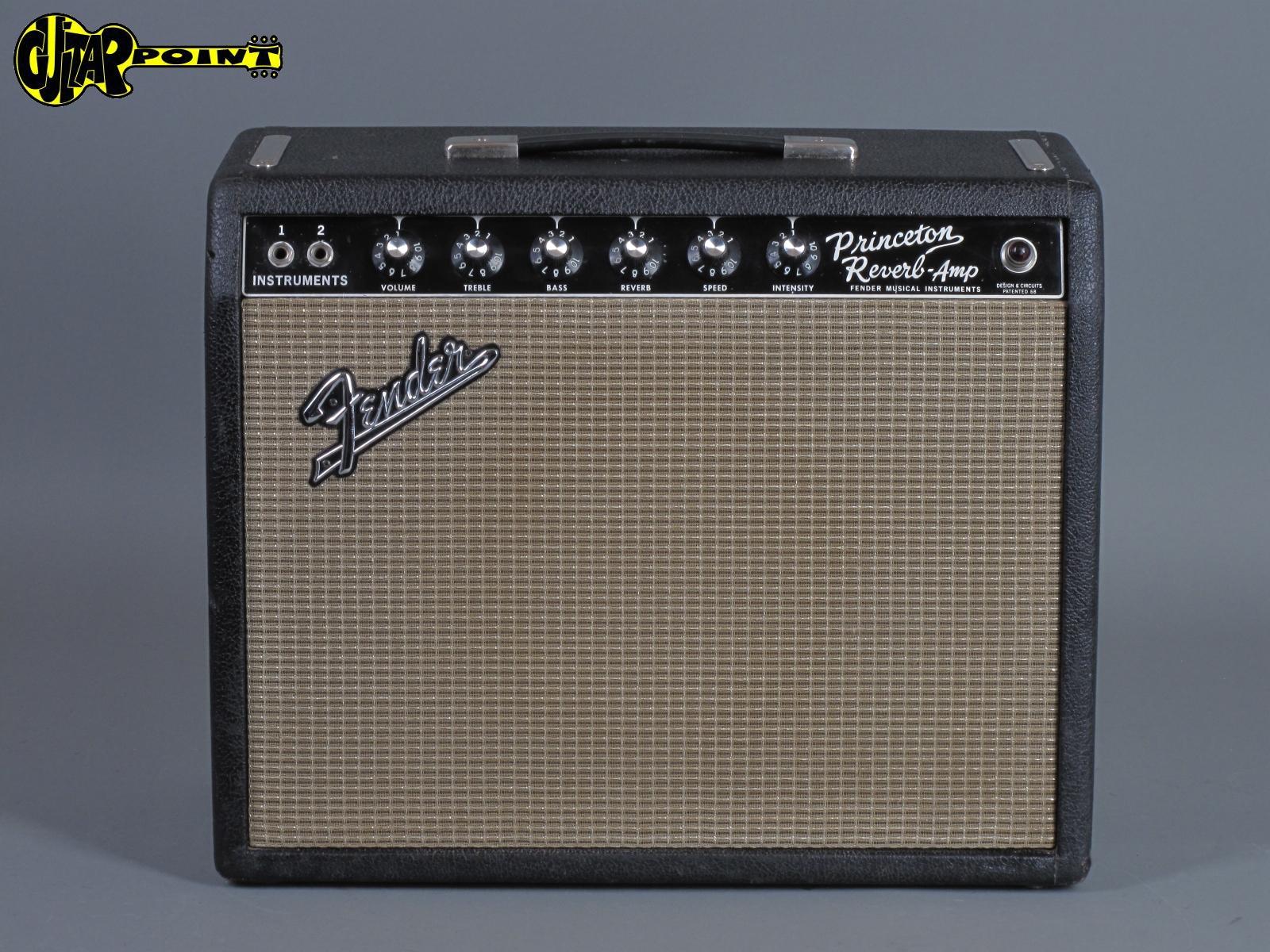 "1966 Fender Princeton Reverb - ""Blackface"" Amp"