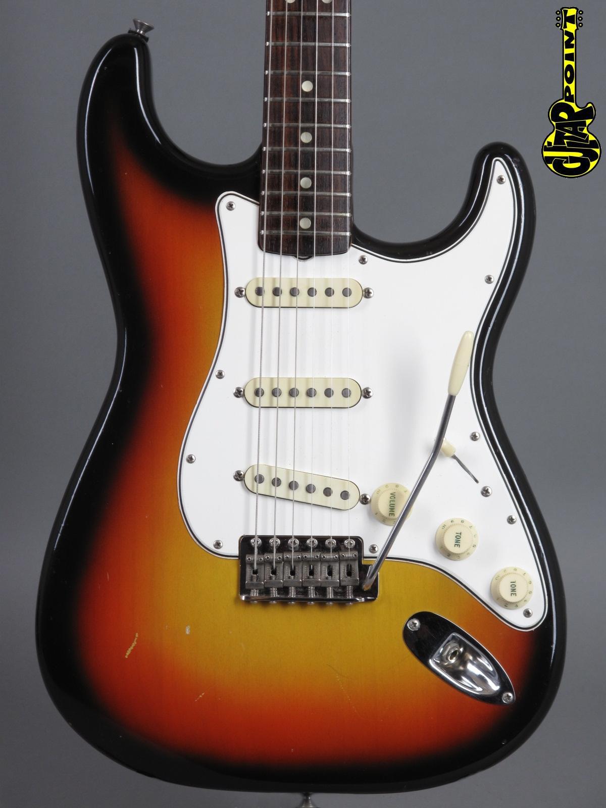 1966 Fender Stratocaster - 3t-Sunburst   ..neckdate Dec 65 !