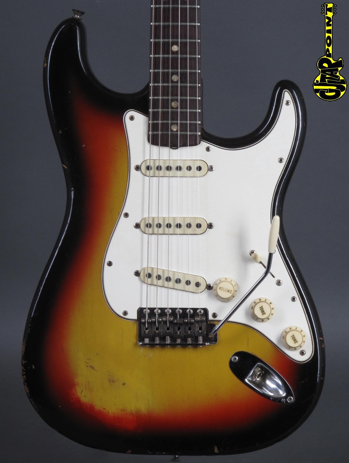 1966 Fender Stratocaster 3-tone Sunburst