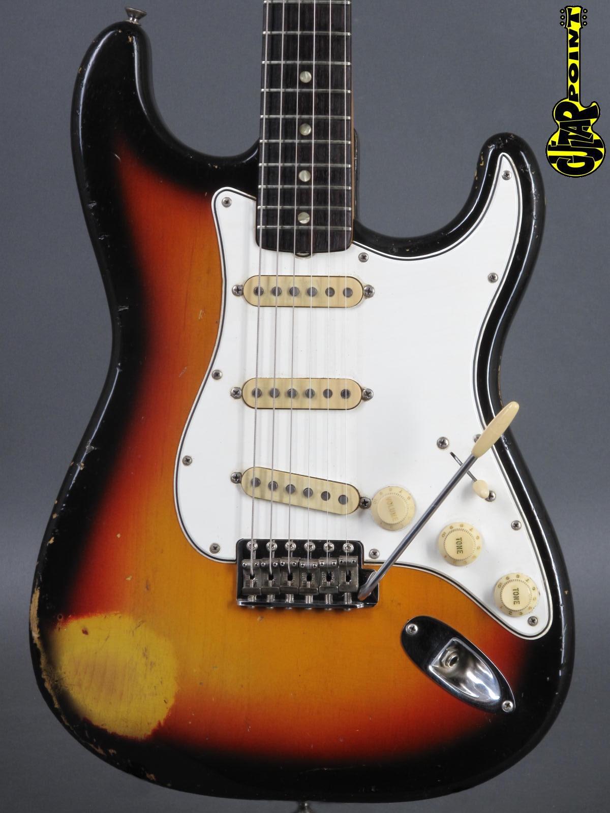 1966 Fender Stratocaster - 3t-Sunburst   ...lightweight!